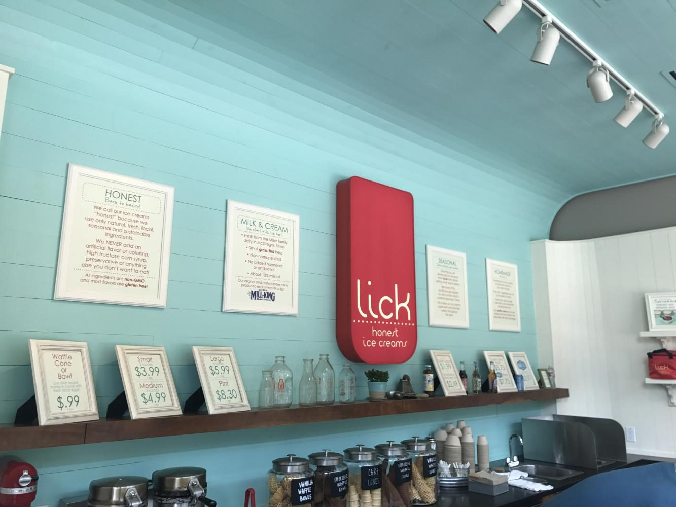 Lick is a Popular Ice Cream Shop that uses Non-artificial Flavors